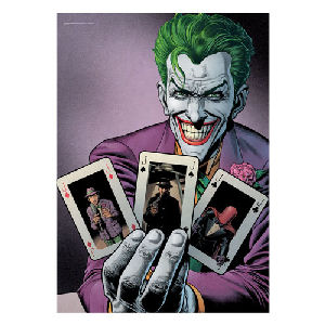 DC Comics Batman Joker Cards MightyPrint Wall Art