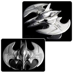 Batman 1989 Batwing Metal Vehicle Statue.  Measures 6.75 inches by 5.75 inches and approximately 3 inches tall. Made of high quality metal.