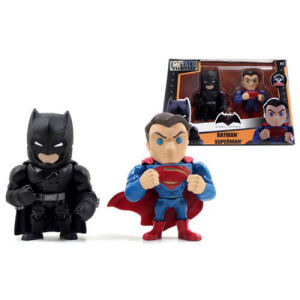 Batman v Superman Dawn of Justice Superman and Batman with Armor 4-Inch Alternate Die-Cast Figure 2-Pack