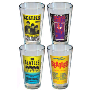 The Beatles Poster Pint Glass 4-Pack