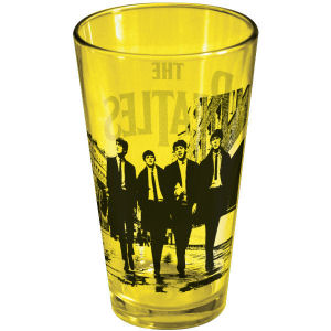 The Beatles On The Street Yellow Pint Glass