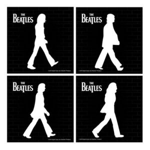 The Beatles Abbey Road Ceramic Coaster 4-Pack.
