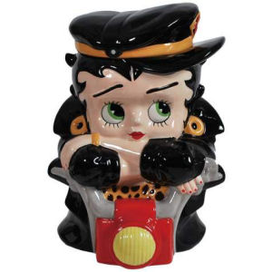 Betty Boop Biker Betty Ceramic Cookie Jar