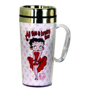 fbad14cead3f3f Betty Boop Brains Insulated Travel Mug with Handle - Spoontiques ...