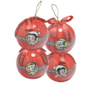Betty Boop Decoupage Ornament - Set of 4
