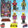 The Big Bang Theory Minimates Set 2 - Entertainment Earth Exclusive. Series 2 features Sheldon in The Flash Shirt with Leonard and Penny and Bernadette. Also Includes Chones food and chopsticks!