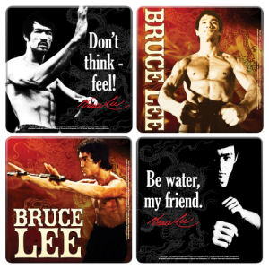 Bruce Lee 4 Piece Wood Coaster Set
