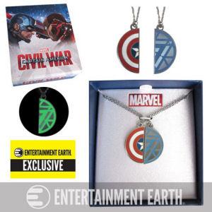 Captain America Civil War Best Friends Necklace Set - Entertainment Earth Exclusive