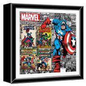 Captain America Wood Shadow Box