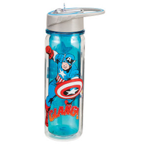 Captain America 18 Ounce Tritan Water Bottle