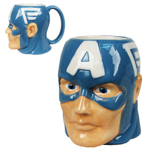 Captain America Marvel Molded 16 Ounce Mug