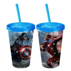 Captain America Civil War Captain America vs. Iron Man Lightning Fight 16 Ounce Travel cup