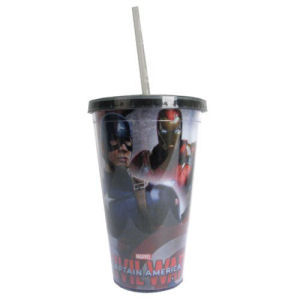 Captain America Civil War Captain America Forefront Iron Man Background 16 Ounce Travel Cup