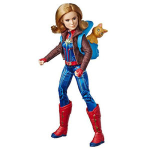 Captain Marvel Adventure Doll and Marvels Goose the Cat
