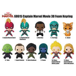 Captain Marvel 3-D Figural Key Chain Display Case