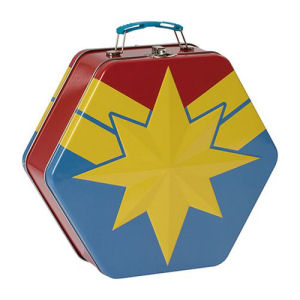 Captain Marvel Badge Shaped Tin Tote.