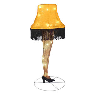 A Christmas Story Leg Lamp 28 Inch Light-Up Tinsel Display