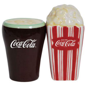 Coca Cola and Popcorn Salt and Pepper Shaker Set