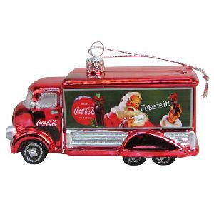 Coca-Cola Truck 5 Inch Glass Holiday Ornament