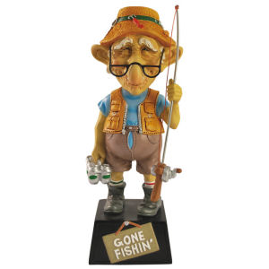 Coots Gone Fishin Bobble Figurine