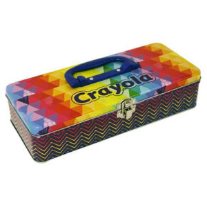 Crayola Crayon Tin Long Tool Box with Handle