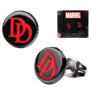 Daredevil Logo Round Stud Earrings