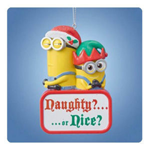 Despicable Me Minions Naughty or Nice 3.75 Inch Holiday Ornament