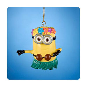 Despicable Me Hula Dave Figural Resin Ornament