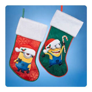 Despicable Me 19 Inch Holiday Stocking with Cuff Display Box
