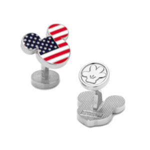 Mickey Mouse Stars and Stripes Cufflinks