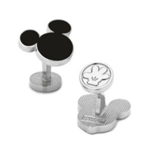 Mickey Mouse Silhouette Black Cufflinks