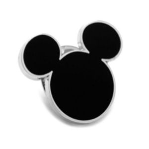 Mickey Mouse Silhouette Black Lapel Pin