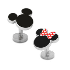 Mickey Mouse and Minnie Mouse Cufflinks