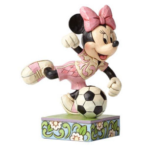 Disney Traditions Minnie Mouse Soccer Goal Statue