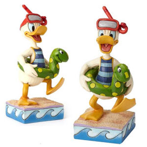 Disney Traditions Donald Duck Snorkling with Innertube Make a Splash Statue