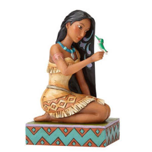 Disney Traditions Pocahontas with Bird Statue