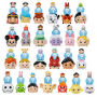 Disney Tsum Tsum 3-Pack Mini-Figures Wave 4 Case. This Disney Tsum Tsum Blind Pack Mini-Figures Wave 4 Case contains 24 individually blind-packaged 3-packs.