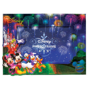 Mickey Mouse and Gang Fireworks Magnetic Photo Frame.