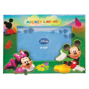 Mickey and Minnie Mouse on Hill Magnetic Photo Frame.