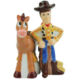 Disney Pixar Toy Story Woody and Bullseye Salt and Pepper Shakers
