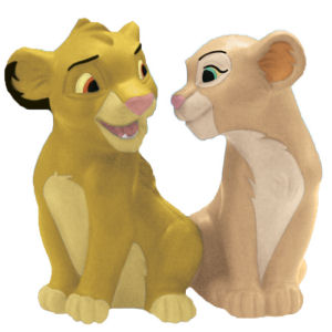 Disney The Lion King Simba and Nala Salt and Pepper Shakers