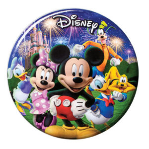 Mickey Mouse and Gang Fireworks Bottle Opener Button Magnet