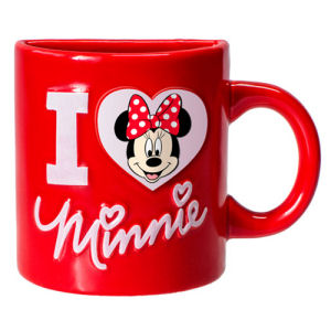 Minnie Mouse I Heart Minnie Red Half Mug Magnet
