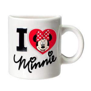Minnie Mouse I Heart Minnie White Half Mug Magnet