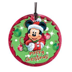 Mickey Mouse Merry Christmas Hanging StarFire Glass Print