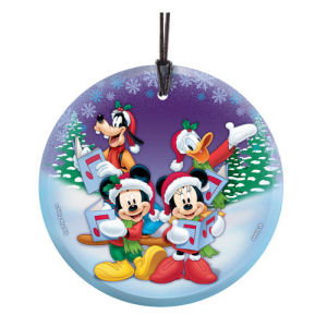 Mickey Mouse Christmas Carols Hanging StarFire Glass Print