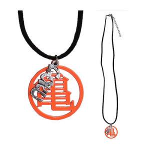 Dragon Ball Z Master Roshi Orange Kanji with Leather Necklace