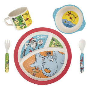 Dr. Seuss 5 piece Bamboo Dinnerware Set