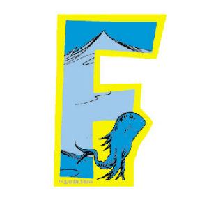 Dr. Seuss Magnetic Wooden Letter F