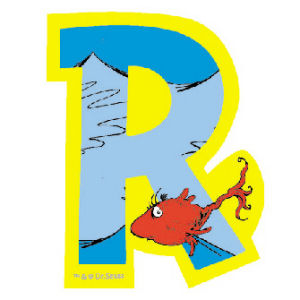 Dr. Seuss Magnetic Wooden Letter R
